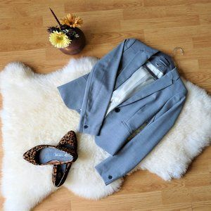 Fitted Business Casual Blazer, Gray